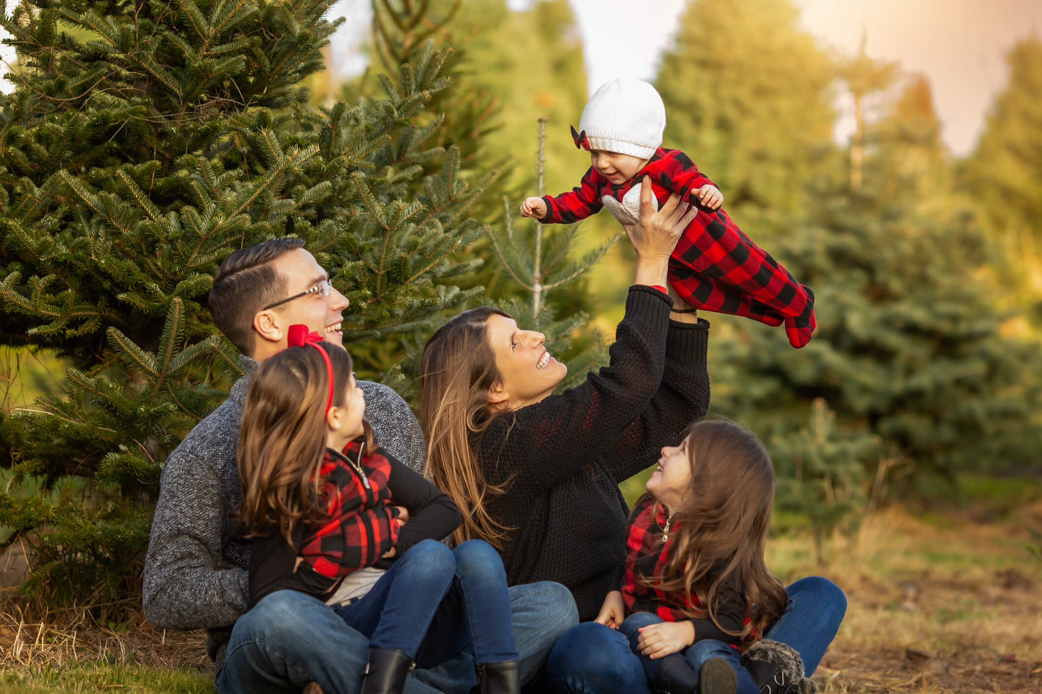 Tree Farm Holiday Fine Art Portraits, Family Photography Boston 7