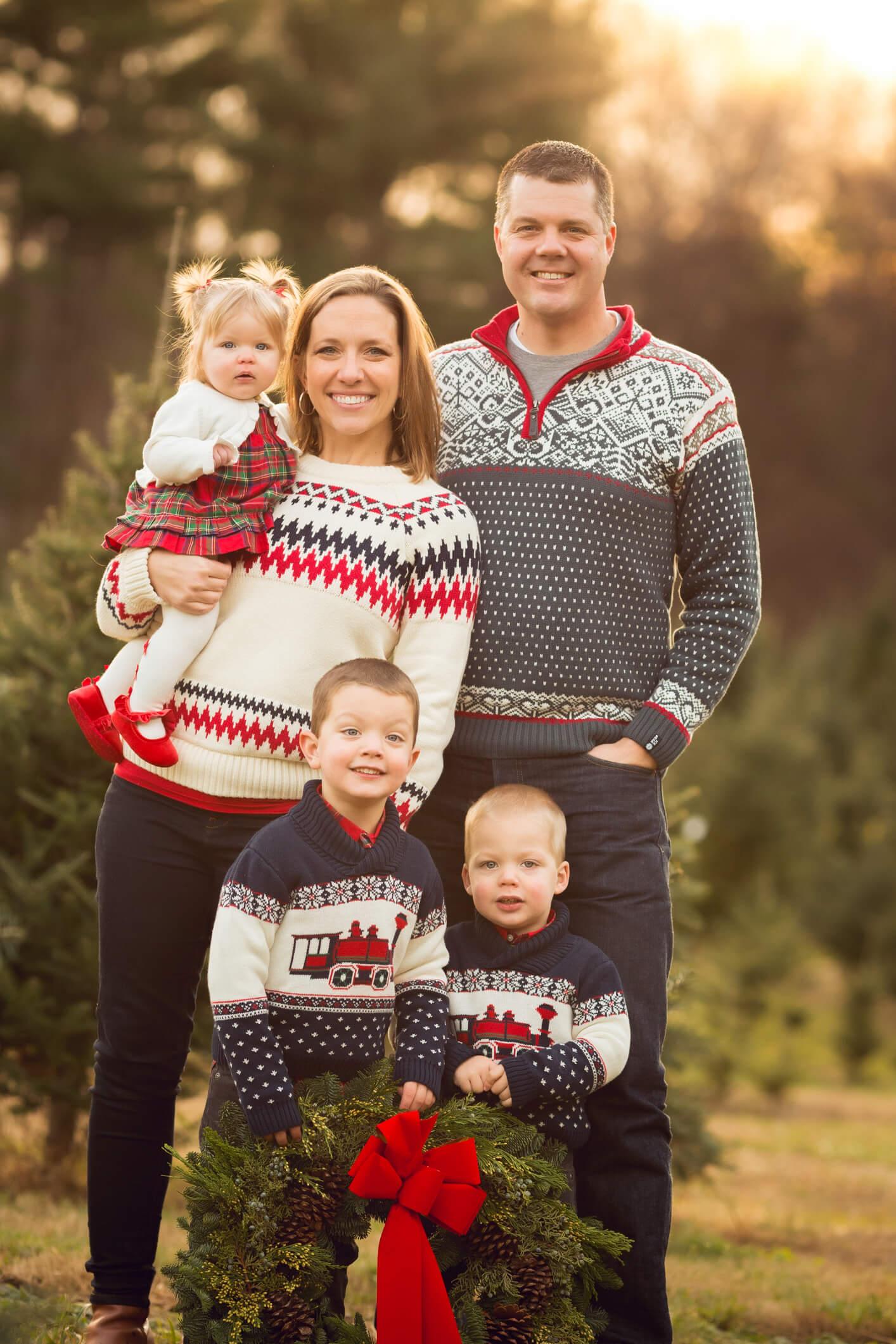 Tree Farm Holiday Fine Art Portraits, Family Photography Boston